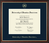 University of Houston Downtown Diploma Frame - Gold Embossed Diploma Frame in Studio Gold