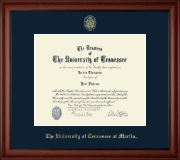 The University of Tennessee Martin Diploma Frame - Gold Embossed Diploma Frame in Cambridge