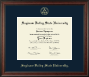 Saginaw Valley State University Diploma Frame - Gold Embossed Diploma Frame in Studio
