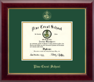 Pine Crest School Diploma Frame - Gold Embossed Diploma Frame in Gallery