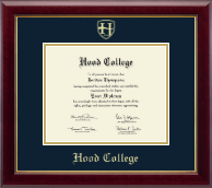 Hood College Diploma Frame - Gold Embossed Diploma Frame in Gallery