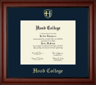 Hood College Diploma Frame - Gold Embossed Diploma Frame in Cambridge