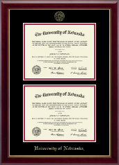 University of Nebraska Diploma Frame - Double Document Diploma Frame in Gallery