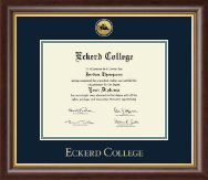 Eckerd College Diploma Frame - Gold Engraved Medallion Diploma Frame in Hampshire