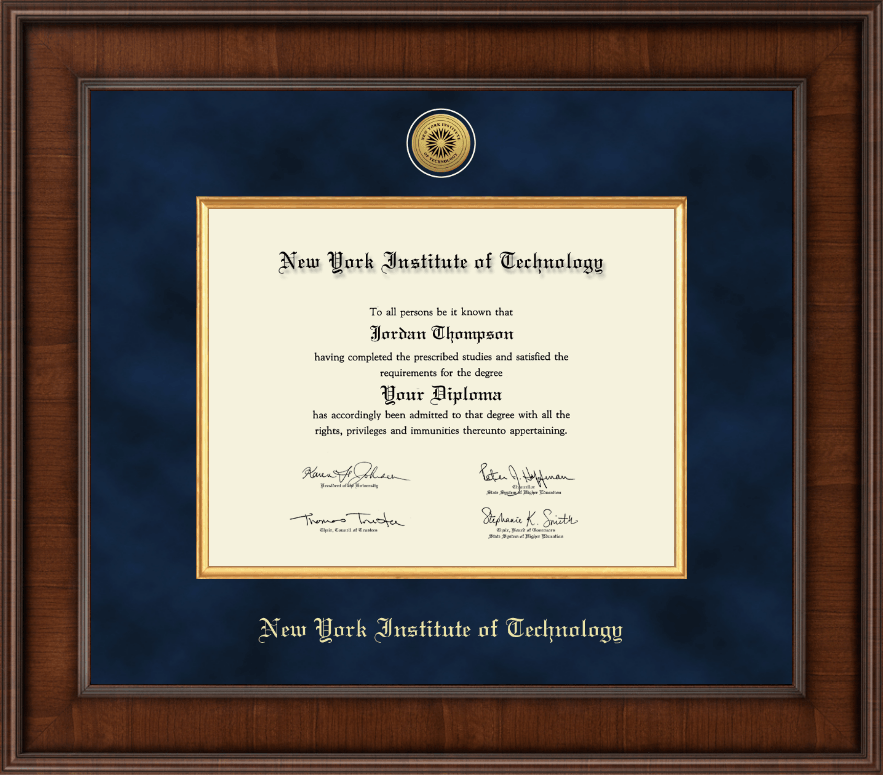 New York Institute Of Technology Diploma Frame Interior