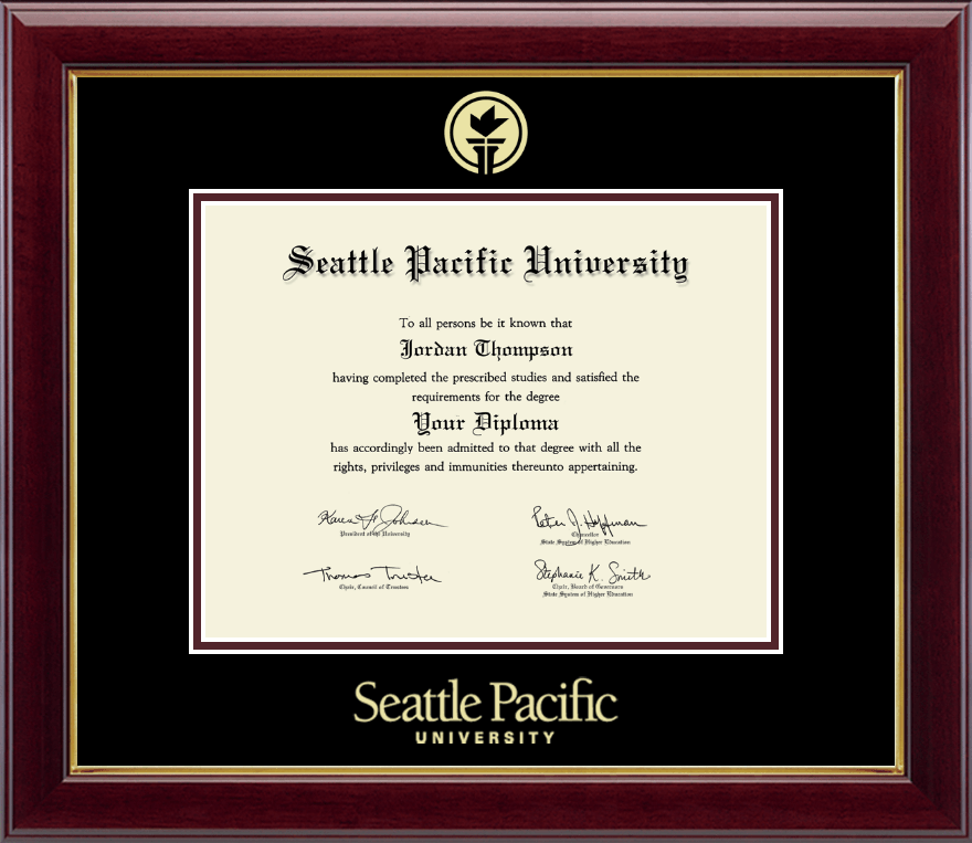 Seattle Pacific University Gold Embossed Diploma Frame in ...