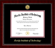 Florida Institute of Technology Diploma Frame - Gold Engraved Medallion Diploma Frame in Sutton