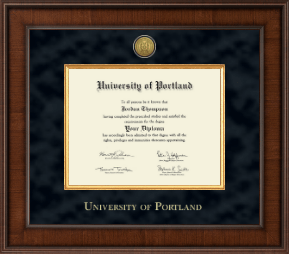 university of portland diploma frame presidential gold engraved diploma frame in madison