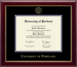 university of portland diploma frame gold embossed diploma frame in gallery