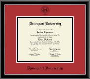 Black Embossed Diploma Frame