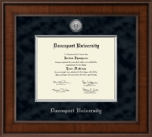 Davenport University Diploma Frame - Presidential Silver Engraved Diploma Frame in Madison
