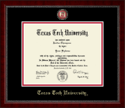 Texas Tech University Diploma Frame - Masterpiece Medallion Diploma Frame in Sutton