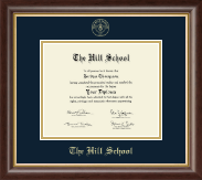 The Hill School Diploma Frame - Gold Embossed Diploma Frame in Hampshire