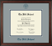 The Hill School Diploma Frame - Navy Embossed Diploma Frame in Studio
