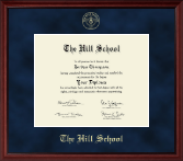The Hill School Diploma Frame - Gold Embossed Diploma Frame in Camby