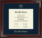The Hill School Diploma Frame - Gold Embossed Diploma Frame in Encore