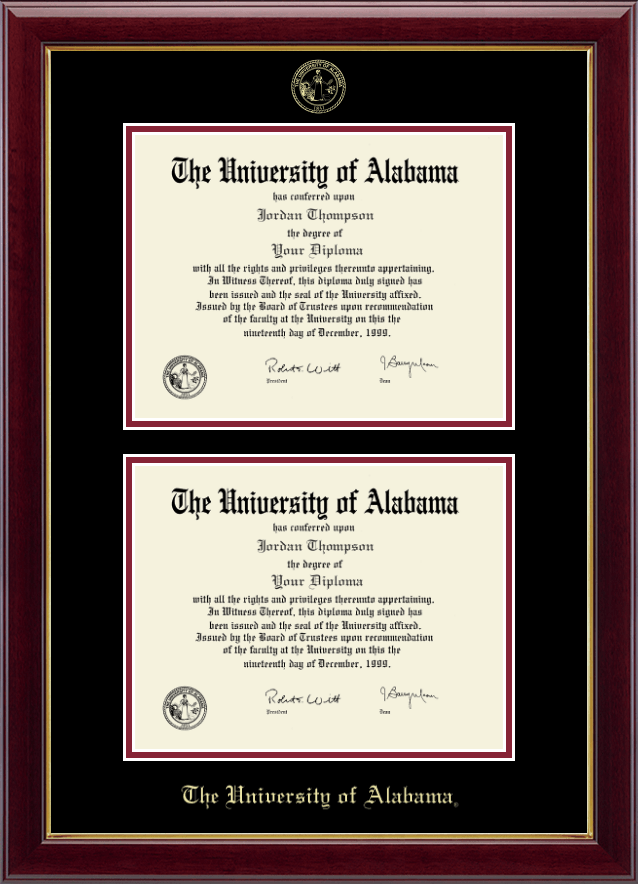 The University Of Alabama Tuscaloosa Double Document