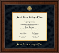 South Texas College of Law Diploma Frame - Presidential Gold Engraved Diploma Frame in Madison