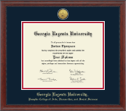 Georgia Regents University Diploma Frame - Gold Engraved Medallion Diploma Frame in Signature