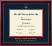 Georgia Regents University Diploma Frame - Gold Embossed Diploma Frame in Gallery