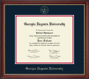 Georgia Regents University Diploma Frame - Gold Embossed Diploma Frame in Kensington Gold
