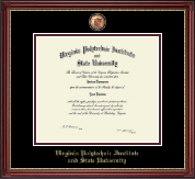 Virginia Tech Diploma Frame - Masterpiece Medallion Diploma Frame in Kensington Gold