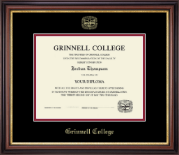 Grinnell College Diploma Frame - Gold Embossed Diploma Frame in Regency Gold