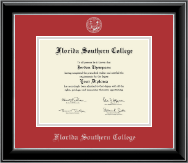 Florida Southern College Diploma Frame - Silver Embossed Diploma Frame in Onyx Silver