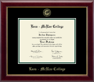 Lees-McRae College Diploma Frame - Gold Embossed Diploma Frame in Gallery