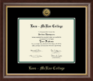 Lees-McRae College Diploma Frame - Gold Engraved Medallion Diploma Frame in Hampshire