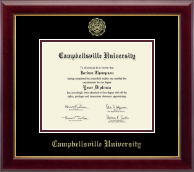 Campbellsville University Diploma Frame - Gold Embossed Diploma Frame in Gallery