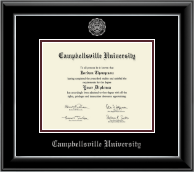 Campbellsville University Diploma Frame - Silver Embossed Diploma Frame in Onyx Silver