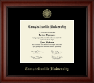 Campbellsville University Diploma Frame - Gold Embossed Diploma Frame in Cambridge