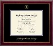 LeMoyne-Owen College Diploma Frame - Gold Embossed Diploma Frame in Gallery
