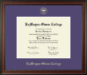 LeMoyne-Owen College Diploma Frame - Gold Embossed Diploma Frame in Studio