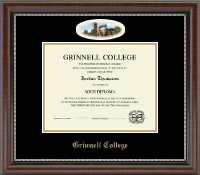 Grinnell College Diploma Frame - Campus Cameo Diploma Frame in Chateau