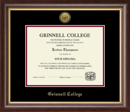 Grinnell College Diploma Frame - Gold Engraved Medallion Diploma Frame in Hampshire