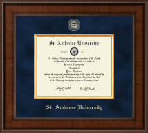 Saint Ambrose University Diploma Frame - Presidential Masterpiece Diploma Frame in Madison