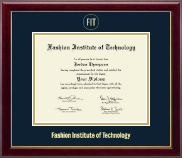 Fashion Institute of Technology Diploma Frame - Gold Embossed Diploma Frame in Gallery