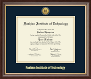 Fashion Institute of Technology Diploma Frame - Gold Engraved Medallion Diploma Frame in Hampshire