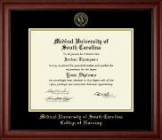 Medical University of South Carolina Diploma Frame - Gold Embossed Diploma Frame in Cambridge