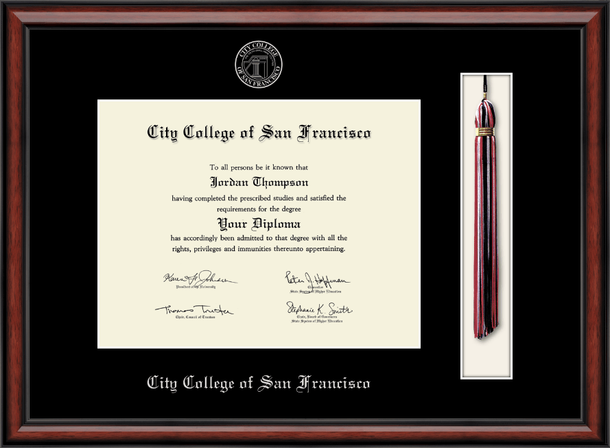 City College Of San Francisco Tassel Edition Diploma Frame