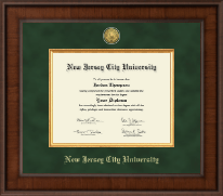New Jersey City University Diploma Frame - Presidential Gold Engraved Diploma Frame in Madison