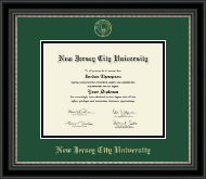 New Jersey City University Diploma Frame - Gold Embossed Diploma Frame in Noir