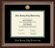 New Jersey City University Diploma Frame - Gold Engraved Medallion Diploma Frame in Hampshire