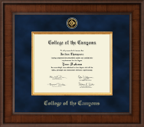 College of the Canyons Diploma Frame - Presidential Gold Engraved Diploma Frame in Madison
