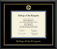 College of the Canyons Diploma Frame - Gold Embossed Diploma Frame in Onyx Gold