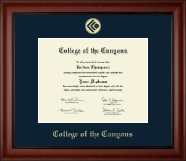 College of the Canyons Diploma Frame - Gold Embossed Diploma Frame in Cambridge