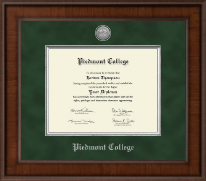 Piedmont College Diploma Frame - Presidential Silver Engraved Diploma Frame in Madison