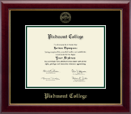 Piedmont College Diploma Frame - Gold Embossed Diploma Frame in Gallery